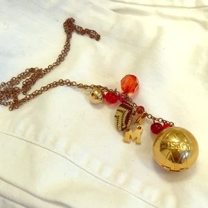 Jewelry - Missoni solid perfume charm ball necklace